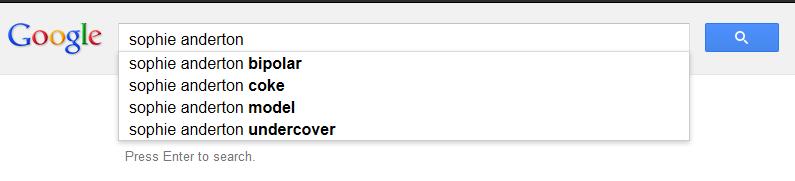 google sophie anderton