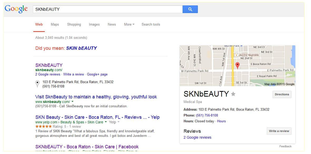 google listing botox boca raton